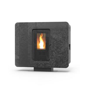 Prodotto 2664 termostufa a pellet slimquadro idra 14 kw acciaio cristallo moondecor - Termostufa a legna thermorossi ...