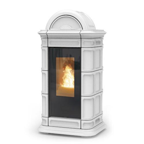 Vendita articoli termostufa a pellet lienz idra 13 kw acciaio maiolica bianco termostufe a - Termostufa a legna thermorossi ...